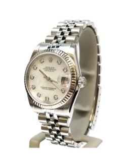 Rolex Ladies Datejust Steel and 18 Karat Gold side angle