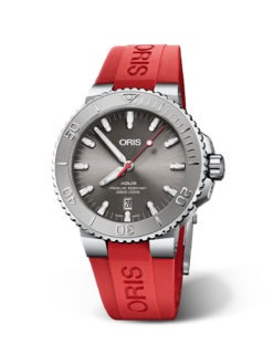 2019 ORIS AQUIS DATE RELIEF with Red band