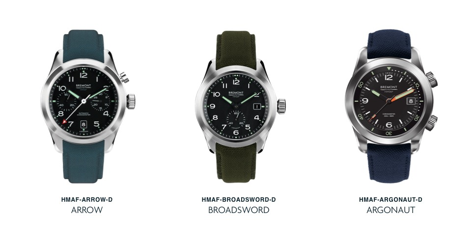 Bremont Armed Forces Collection of Watches