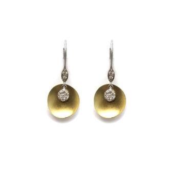14k Gold and Diamond Fashion Earrings