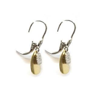 Gold and Diamond Fashion Earrings