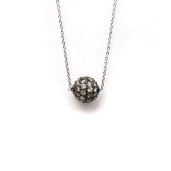 18k Pave Diamond Necklace