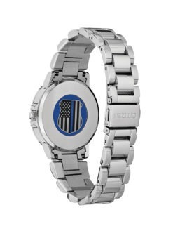 Citizen Thin Blue Line Womens Watch back
