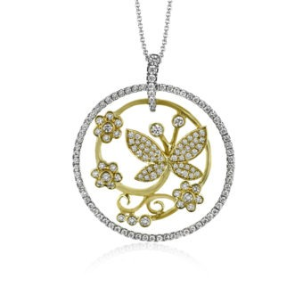 Simon G Butterfly Diamond Necklace