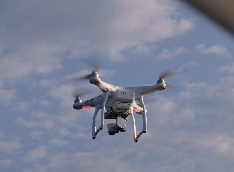Drone in air