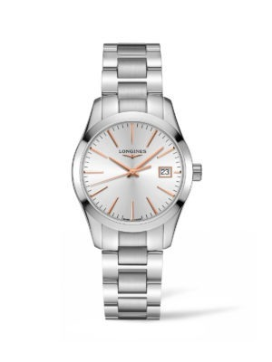CONQUEST CLASSIC 34MM SILVER DIAL STAINLESS STEEL