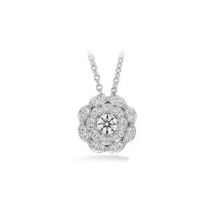 LORELEI DOUBLE HALO DIAMOND PENDANT
