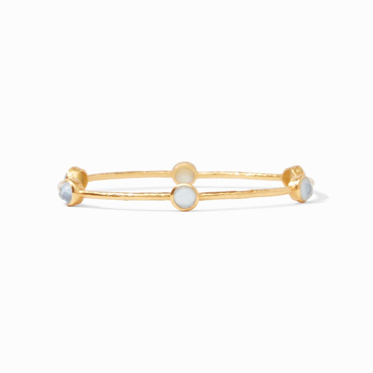 Milano Luxe Chalcedony Blue Bangle