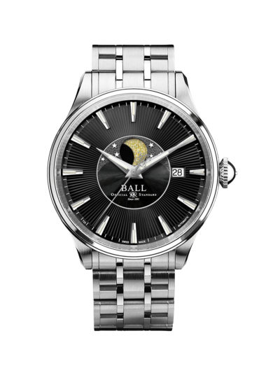 Ball Trainmaster Moon Phase NM3082D-SJ-BK