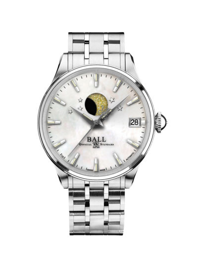 Ball Trainmaster Moon Phase Ladies NL3082D-SJ-WH