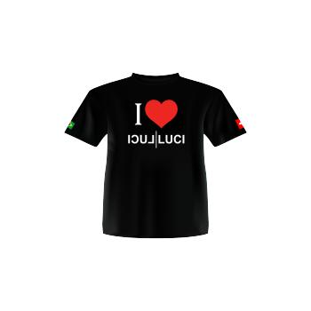 Camiseta Ilove Luci Luci preta visco elástico (GG)