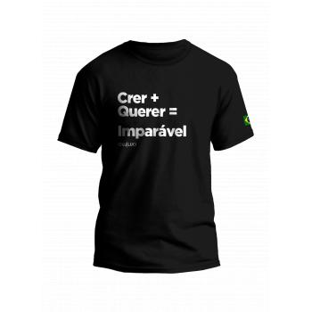 Camiseta crer + querer = imparável (PP)