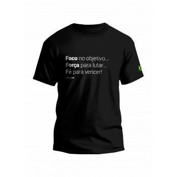 Camiseta foco força e fé Luci Luci (M)