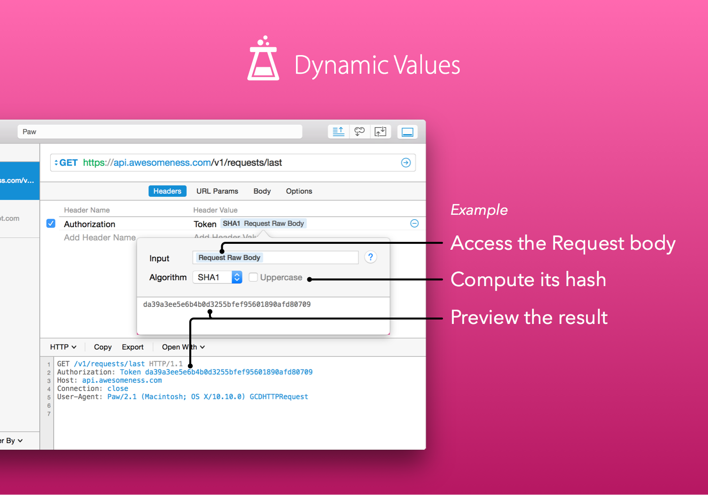 Create your own dynamic values extension (Screenshot)
