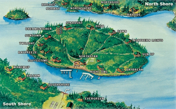 Map of Ludlow's Island Resort