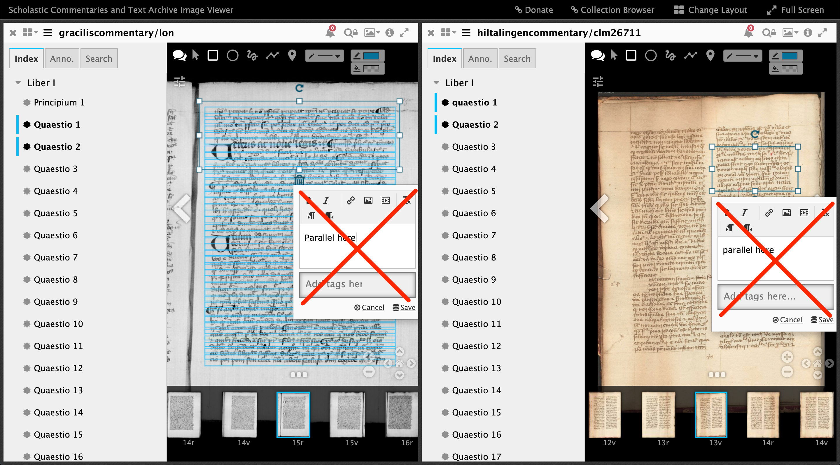 making direct annotations