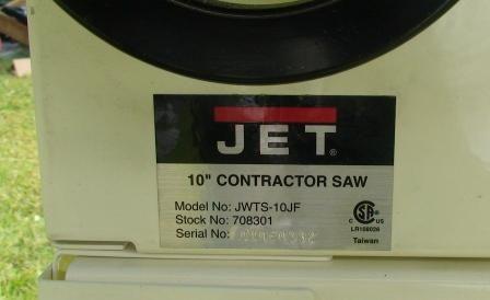 Jet Jwts 10jf 10 Table Saw By Jamsey Lumberjocks Com