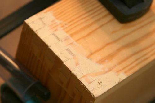 Wood Filler Plywood ~ Tool tote travel finger joints on a template jig
