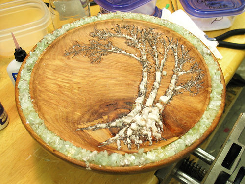 Crushed Gemstone For Inlays : Stone inlay a tutorial for the quot birches playing