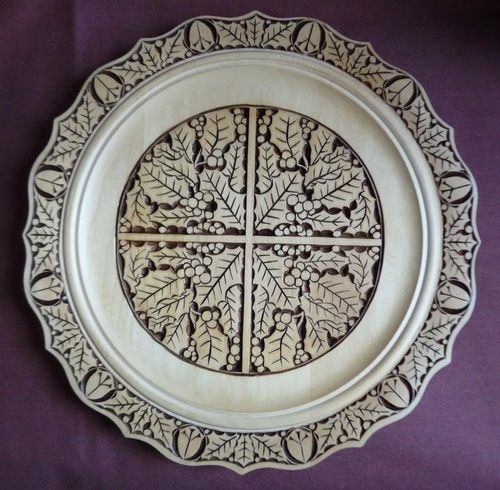 Holly pattern chip carving add color carved