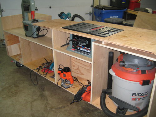 Table Saw Stand Bench Woodworking Talk Woodworkers Forum