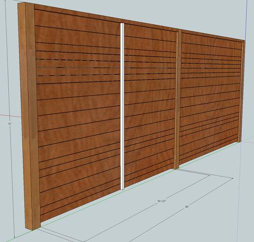 horizontal wood fence building by jlondon lumberjocks. Black Bedroom Furniture Sets. Home Design Ideas