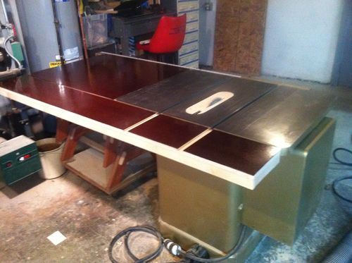 Try Table saw infeed extension plans