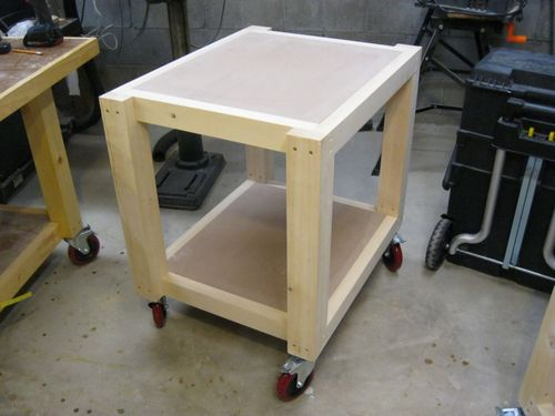 Easy Shop Table Planer Table 6 Adding The Casters And