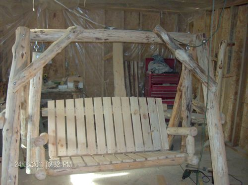 Log swing by knapp1189 woodworking for Log swing plans