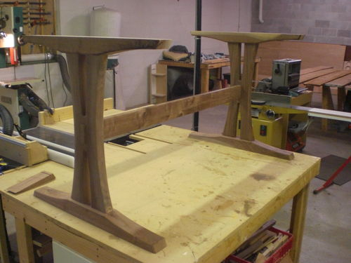 trestle table 2 progress on the base by doorslammer woodworking community. Black Bedroom Furniture Sets. Home Design Ideas