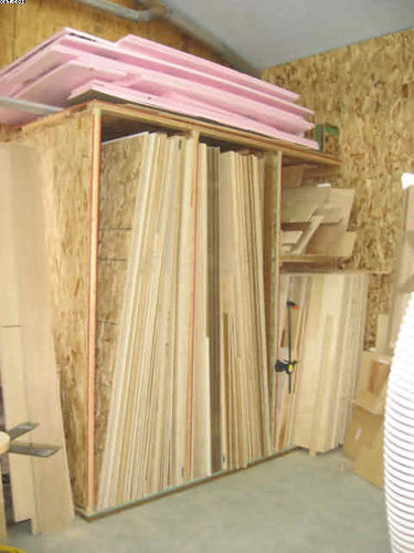 Plywood Storage Rack Design