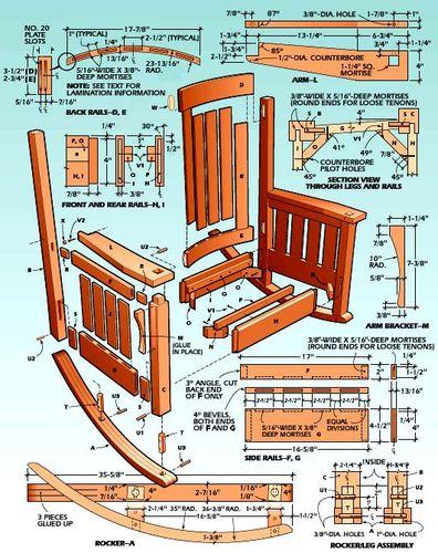 morris rocking chair plans pdf – furnitureplans