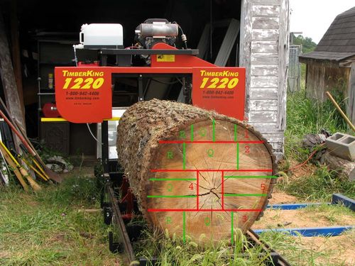 Red Oak Lumber #3: Quartersawing a BIG red oak log - by ...