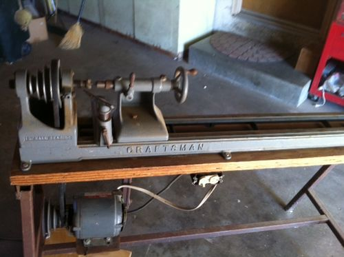 old craftsman wood lathe