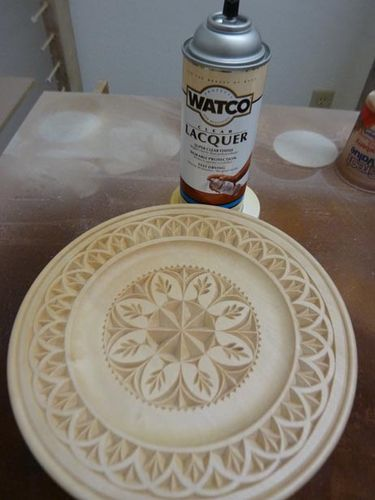 Chip carving a plate finishing by mychipcarving
