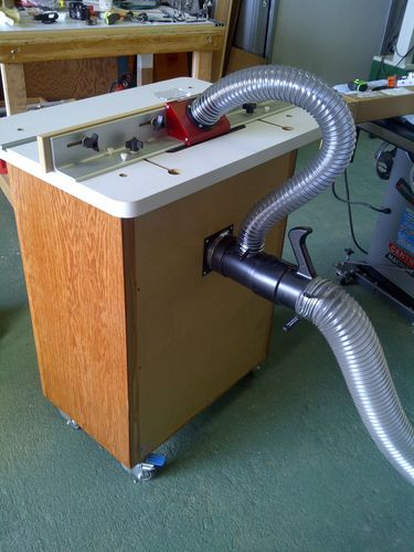 Multi-port dust collection for router table