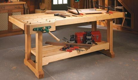 solid hard maple workbench by w00dy