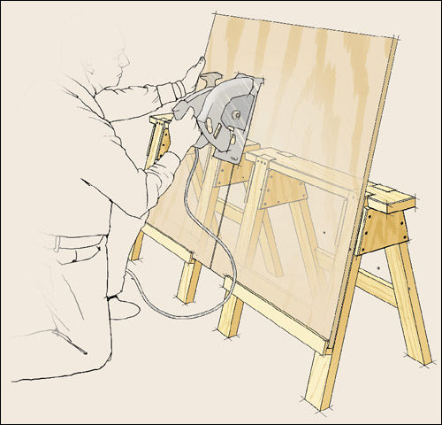Breaking Down Sheet Goods With Hand Saws By Thebenchroom