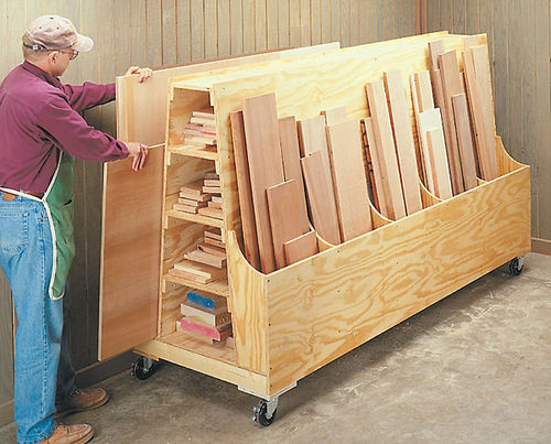 Plywood storage cart 1 plywood lumber cart musings or for Rolling lumber cart plans