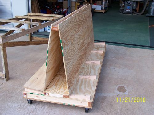 Plywood Storage Cart