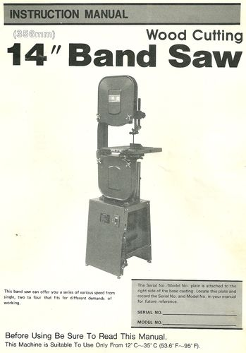 Buffalo Band Saw Manual By Harris13 Lumberjocks Com