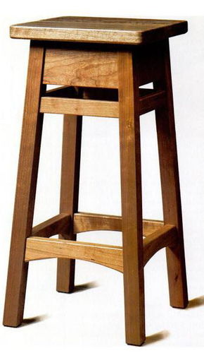 Saddle Seat Bar Stool Woodworking Plans