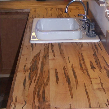 Wormy Maple Kitchen Cabinets