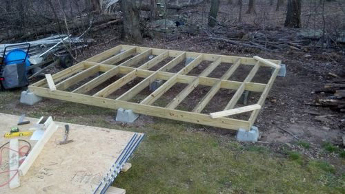 Building My First Workshop Shed 2 Foundation And Floor