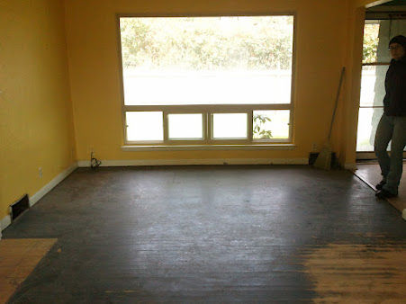 Stain hardwood floors dark