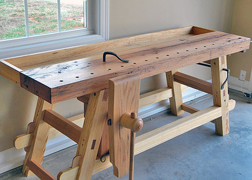 knockdown woodworking bench
