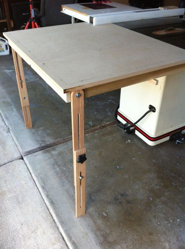 Table Saw Outfeed Table 2 Finished Up And Tested By