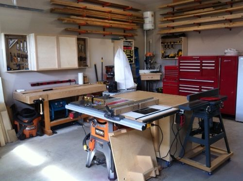 garage woodshop layout ideas let s see your 20x20 shops by berber5985 lumberjocks - Garage Woodshop