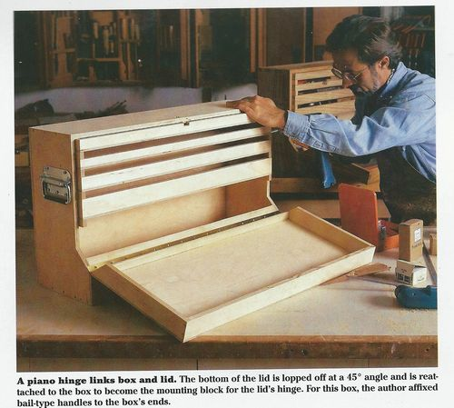 Carpenters Wooden Tool Box