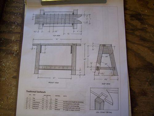 Traditional Sawbench 1 Traditional Sawbench Build Plans